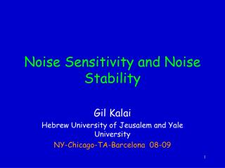Noise Sensitivity and Noise Stability