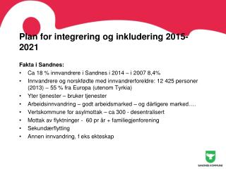 Plan for integrering og inkludering 2015- 2021