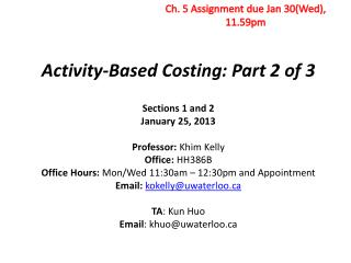 Activity-Based Costing: Part 2 of 3