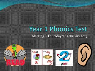 Year 1 Phonics Test