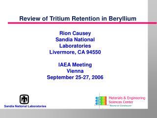 Review of Tritium Retention in Beryllium