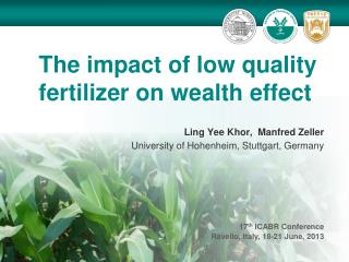 The impact of low quality fertilizer on wealth effect
