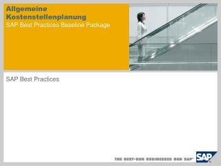 Allgemeine Kostenstellenplanung SAP Best Practices Baseline Package