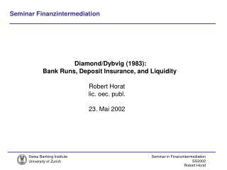 Robert Horat lic. oec. publ. 23. Mai 2002