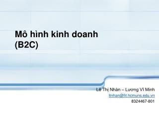 M� h�nh kinh doanh (B2C)