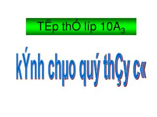 TËp thÓ líp 10A 3