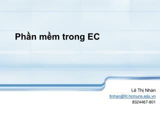 Phần mềm trong EC
