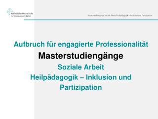Vier grundlegende Qualifikationsziele der Masterstudiengänge