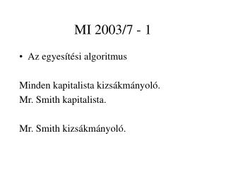 MI 2003/7 - 1