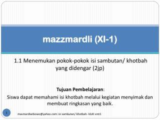 mazzmardli (XI-1)