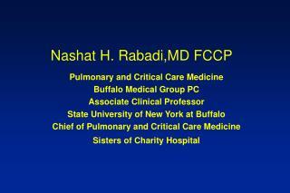 Nashat H. Rabadi,MD FCCP
