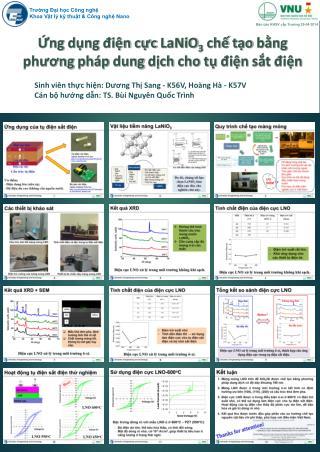 Ứng dụng điện cực  LaNiO 3 chế tạo bằng phương pháp  dung  dịch cho tụ điện sắt điện