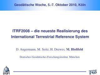 Geodätische Woche, 5.-7. Oktober 2010, Köln