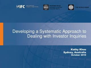Developing a Systematic Approach to Dealing with Investor Inquiries