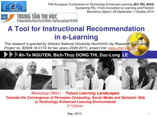 A Tool for Instructional Recommendation in e-Learning