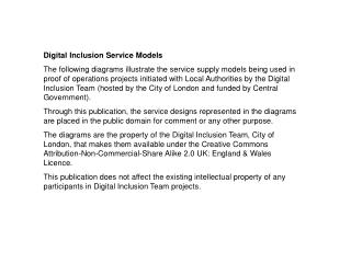 Digital Inclusion Service Models