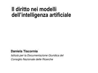 Il diritto nei modelli dell intelligenza artificiale