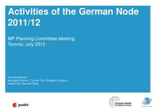 Activities of the German Node 2011/12
