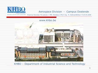 Aerospace Division  -  Campus Oostende