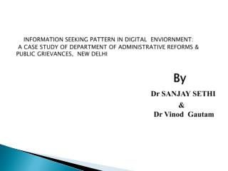Department  of Administrative Reforms and Public Grievances, New Delhi (DAR&PG)