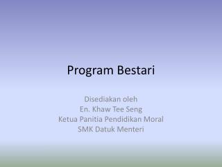 Program  Bestari