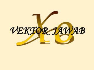 VEKTOR  JAWAB