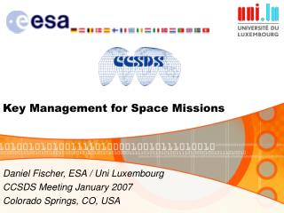 Key Management for Space Missions