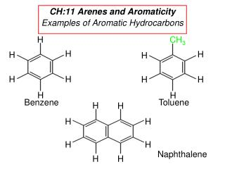CH:11 Arenes and Aromaticity Examples of Aromatic Hydrocarbons