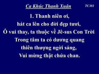 Ca Khúc Thanh Xuân