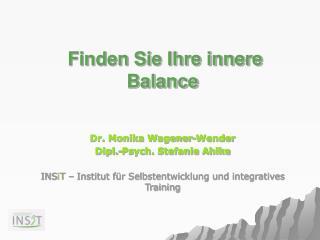 Finden Sie Ihre innere Balance