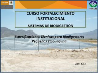 CURSO  FORTALECIMIENTO INSTITUCIONAL  SISTEMAS  DE  BIODIGESTI�N