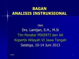 BAGAN  ANALISIS INSTRUKSIONAL