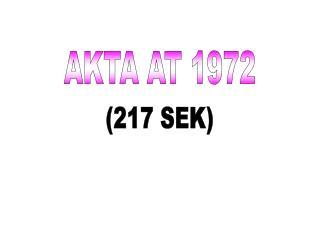 AKTA AT 1972