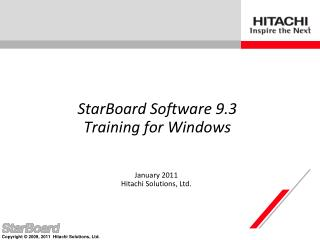 StarBoard Software 9.3  Training for Windows