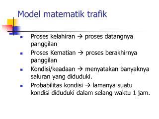 Model matematik trafik