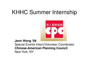 KHHC Summer Internship