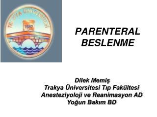 PARENTERAL BESLENME