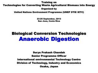 Biological Conversion Technologies  Anaerobic Digestion