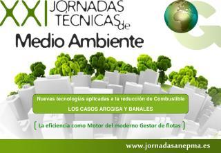 Nuevas tecnologías aplicadas a la reducción de Combustible LOS CASOS ARCGISA Y BANALES