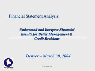 Financial Statement Analysis: