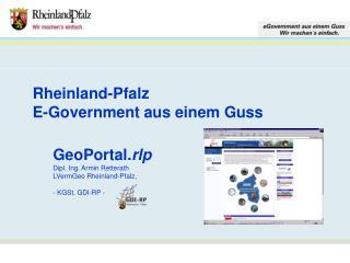 Rheinland-Pfalz E-Government aus einem Guss