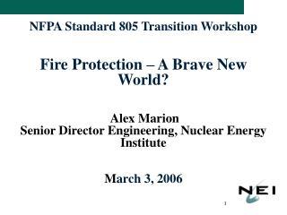 NFPA 805 - Status