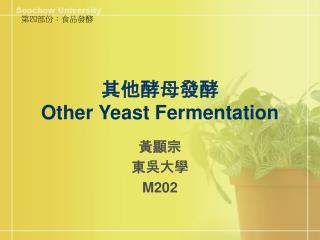 其他酵母 發酵 Other Yeast Fermentation