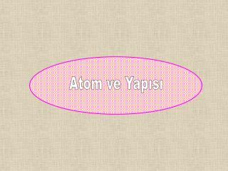 Atom ve Yapısı