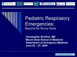 Pediatric Respiratory Emergencies: Beyond the Runny Nose