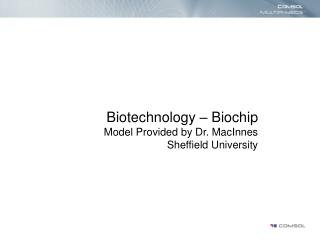 Biotechnology – Biochip Model Provided by Dr. MacInnes Sheffield University