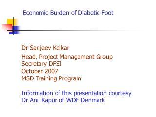 Economic Burden of Diabetic Foot