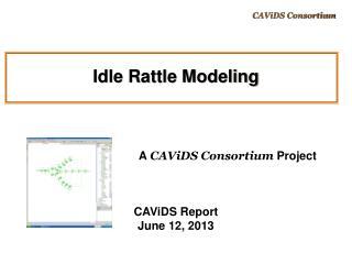 Idle Rattle Modeling