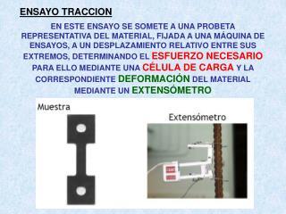 ENSAYO TRACCION