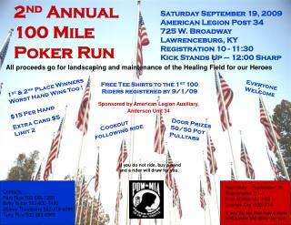 2 nd  Annual 100 Mile Poker Run